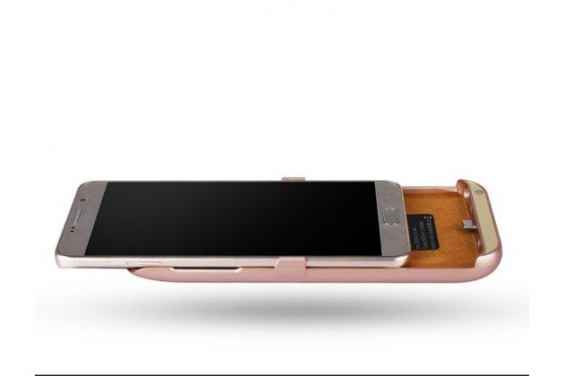 Чехол-бампер со встроенной усиленной мощной батарей-аккумулятором большой повышенной расширенной ёмкости 10000 mAh для Huawei Ascend G8 (RIO-AL00 /D199) черный + гарантия