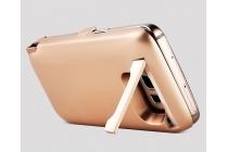 Чехол-бампер со встроенной усиленной мощной батарей-аккумулятором большой повышенной расширенной ёмкости 10000 mAh для Huawei Ascend G8 (RIO-AL00 /D199) розовое золото + гарантия