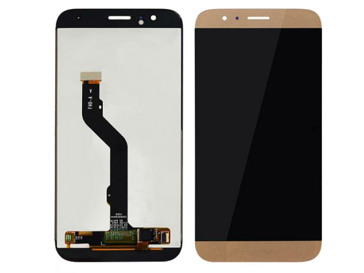 Фирменный LCD-ЖК-сенсорный дисплей-экран-стекло с тачскрином на телефон Huawei Ascend G8 (RIO-AL00 /D199) золо..