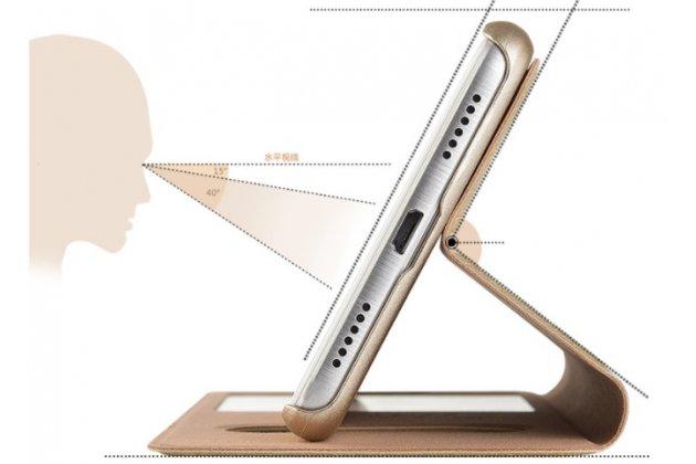 Фирменный чехол-книжка для Huawei Enjoy 7 Plus/ Y7 Prime  черный с окошком для входящих вызовов и свайпом водоотталкивающий