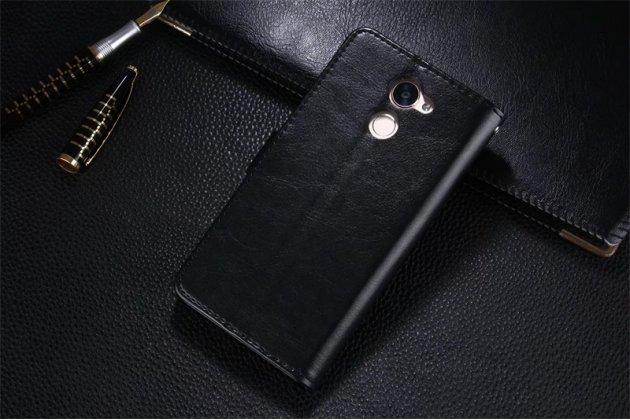 Фирменный чехол-книжка из качественной импортной кожи с мульти-подставкой застёжкой и визитницей для Huawei Enjoy 7 Plus/ Y7 Prime черный