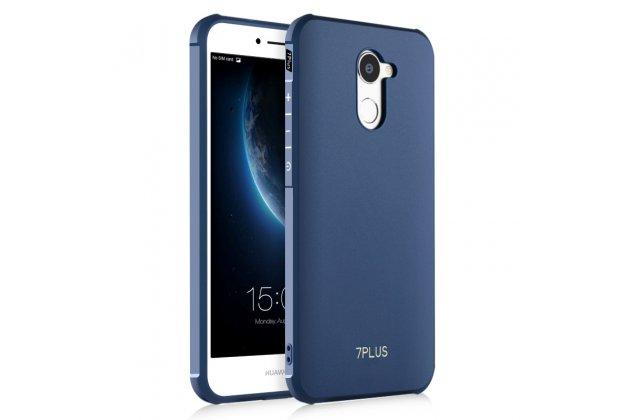 Фирменная ультра-тонкая полимерная из мягкого качественного силикона задняя панель-чехол-накладка для Huawei Enjoy 7 Plus/ Y7 Prime синяя