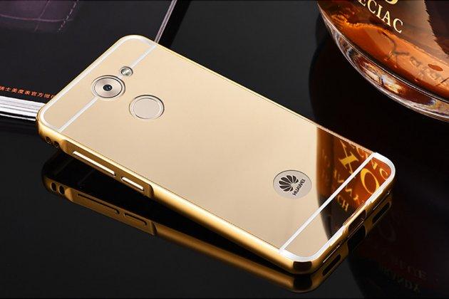 Фирменная металлическая задняя панель-крышка-накладка из тончайшего облегченного авиационного алюминия для Huawei Enjoy 7 Plus/ Y7 Prime золотая