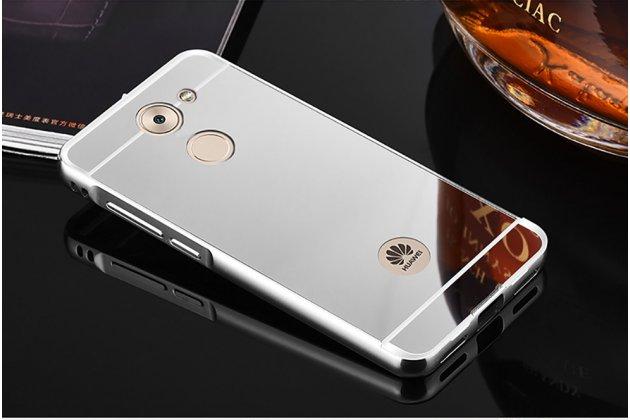Фирменная металлическая задняя панель-крышка-накладка из тончайшего облегченного авиационного алюминия для Huawei Enjoy 7 Plus/ Y7 Prime серебристая