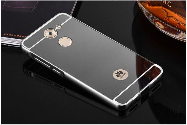 Фирменная металлическая задняя панель-крышка-накладка из тончайшего облегченного авиационного алюминия для Huawei Enjoy 7 Plus/ Y7 Prime черная