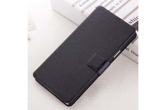 Фирменный чехол-книжка с подставкой застёжкой и визитницей для Huawei Enjoy 7 Plus/ Y7 Prime водоотталкивающий черный