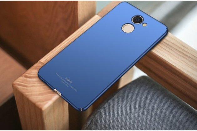 Задняя панель-крышка из прочного пластика с матовым противоскользящим покрытием для Huawei Enjoy 7 Plus/ Y7 Prime синяя