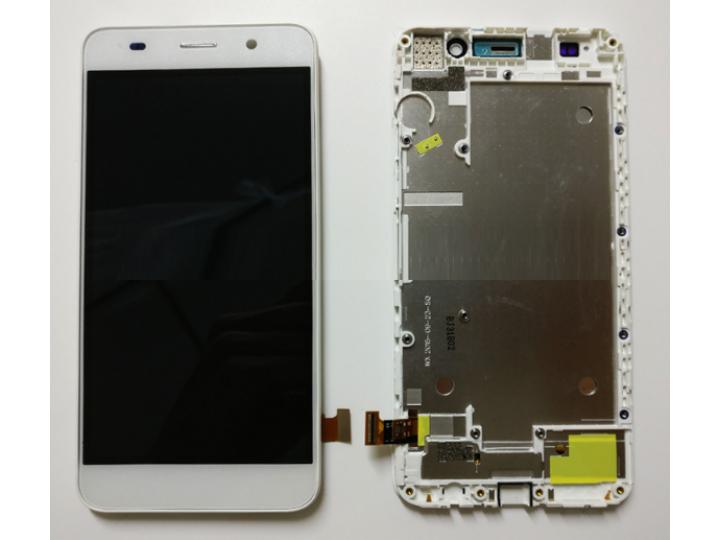 Фирменный LCD-ЖК-сенсорный дисплей-экран-стекло с тачскрином на телефон Huawei Honor 4A (SCL-TL00h) белый + га..