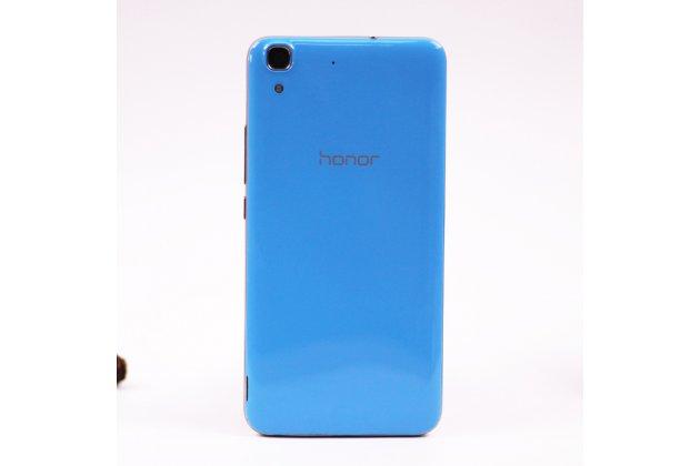 Родная оригинальная задняя крышка-панель которая шла в комплекте для Huawei Honor 4A (SCL-TL00h) голубая