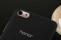 Родная оригинальная задняя крышка-панель которая шла в комплекте для Huawei Honor 4c (CHM-TL00H /C8818 /CL00) черная