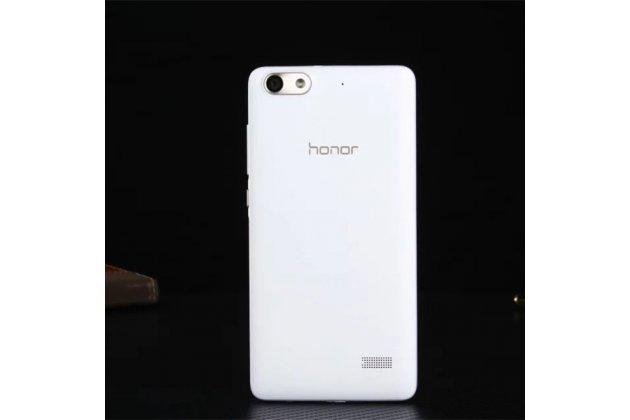 Родная оригинальная задняя крышка-панель которая шла в комплекте для Huawei Honor 4c (CHM-TL00H /C8818 /CL00) белая