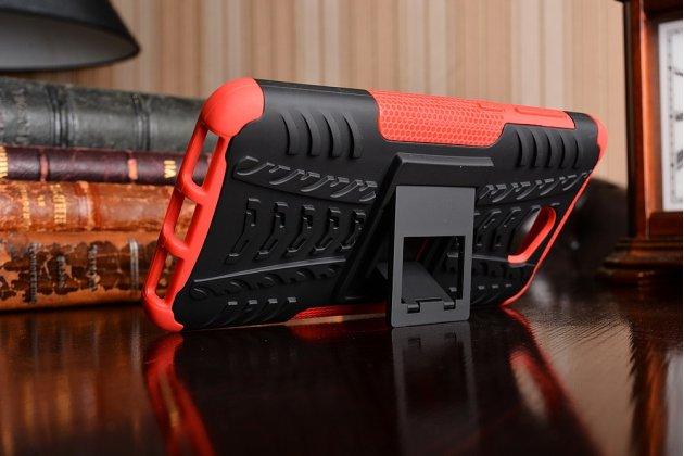 Противоударный усиленный ударопрочный фирменный чехол-бампер-пенал для Huawei Honor 5A 5.0 ( LYO-L21) / Huawei Y5 2 (II) LTE красный
