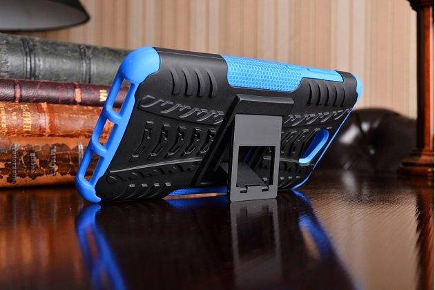 Противоударный усиленный ударопрочный фирменный чехол-бампер-пенал для Huawei Honor 5A 5.0 ( LYO-L21) / Huawei Y5 2 (II) LTE синий