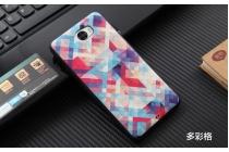 Фирменная уникальная задняя панель-крышка-накладка из тончайшего силикона для Huawei Honor 5A 5.0 ( LYO-L21) / Huawei Y5 2 (II) LTE с объёмным 3D рисунком тематика Яркая Мозайка