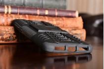 Противоударный усиленный ударопрочный фирменный чехол-бампер-пенал для Huawei Honor 5A 5.0 ( LYO-L21) / Huawei Y5 2 (II) LTE черный