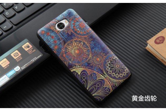 Фирменная уникальная задняя панель-крышка-накладка из тончайшего силикона для Huawei Honor 5A 5.0 ( LYO-L21) / Huawei Y5 2 (II) LTE с объёмным 3D рисунком тематика Галактические узоры