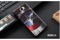 Фирменная уникальная задняя панель-крышка-накладка из тончайшего силикона для Huawei Honor 5A 5.0 ( LYO-L21) / Huawei Y5 2 (II) LTE с объёмным 3D рисунком тематика Капитан Америка