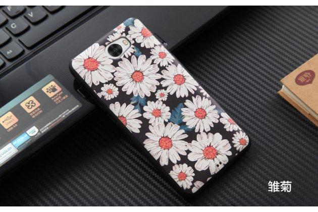 Фирменная уникальная задняя панель-крышка-накладка из тончайшего силикона для Huawei Honor 5A 5.0 ( LYO-L21) / Huawei Y5 2 (II) LTE с объёмным 3D рисунком тематика Ромашки