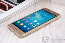 Фирменная задняя панель-крышка-накладка из тончайшего и прочного пластика для Huawei Honor 5A 5.0 ( LYO-L21) / Huawei Y5 2 (II) LTE золотая