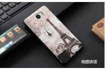 Фирменная уникальная задняя панель-крышка-накладка из тончайшего силикона для Huawei Honor 5A 5.0 ( LYO-L21) / Huawei Y5 2 (II) LTE с объёмным 3D рисунком тематика Париж