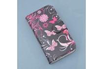 Фирменный уникальный необычный чехол-книжка для Huawei Honor 5A 5.0 ( LYO-L21) / Huawei Y5 2 (II) LTE тематика радужные Бабочки