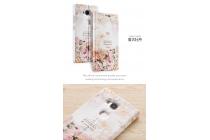 Фирменный необычный чехол-книжка для Huawei Honor 5X 5.5(KIW-L21) тематика Винтажные Розы