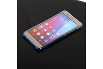 """Фирменная ультра-тонкая полимерная задняя панель-чехол-накладка из силикона для Huawei Honor 5X 5.5"""" (KIW-L21)  прозрачная с эффектом дождя"""