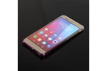 Фирменная ультра-тонкая полимерная задняя панель-чехол-накладка из силикона для Huawei Honor 5X 5.5(KIW-L21) прозрачная с эффектом грозы
