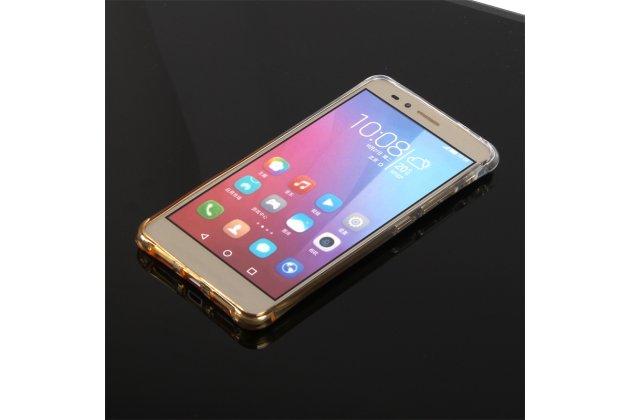 Фирменная ультра-тонкая полимерная задняя панель-чехол-накладка из силикона для Huawei Honor 5X 5.5(KIW-L21) прозрачная с эффектом песка