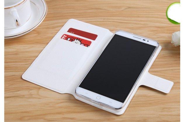 Фирменный уникальный необычный чехол-книжка для Huawei Honor 5X 5.5(KIW-L21) тематика Цветок
