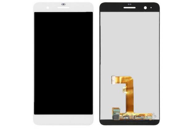Фирменный LCD-ЖК-сенсорный дисплей-экран-стекло с тачскрином на телефон Huawei Honor 6 Plus белый+ гарантия