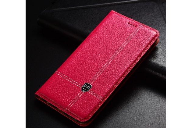 Фирменный премиальный элитный чехол-книжка из качественной импортной кожи с мульти-подставкой и визитницей для Huawei Honor 6A (DLI-TL20) розовый