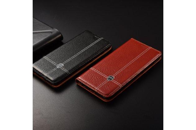Фирменный премиальный элитный чехол-книжка из качественной импортной кожи с мульти-подставкой и визитницей для Huawei Honor 6A (DLI-TL20)  коричневый