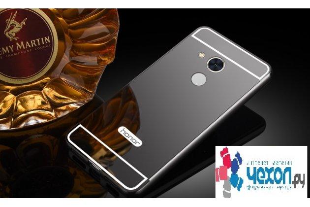 Фирменная металлическая задняя панель-крышка-накладка из тончайшего облегченного авиационного алюминия для Huawei Honor 6A черная