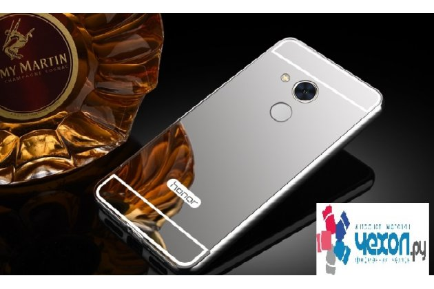Фирменная металлическая задняя панель-крышка-накладка из тончайшего облегченного авиационного алюминия для Huawei Honor 6A серебристая