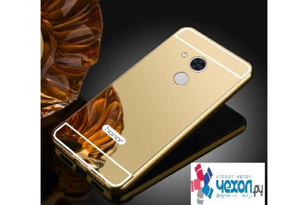 Фирменная металлическая задняя панель-крышка-накладка из тончайшего облегченного авиационного алюминия для Huawei Honor 6A золотая
