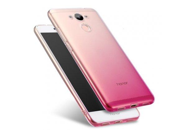Фирменная ультра-тонкая полимерная задняя панель-чехол-накладка из силикона для Huawei Honor 6A прозрачная с эффектом грозы