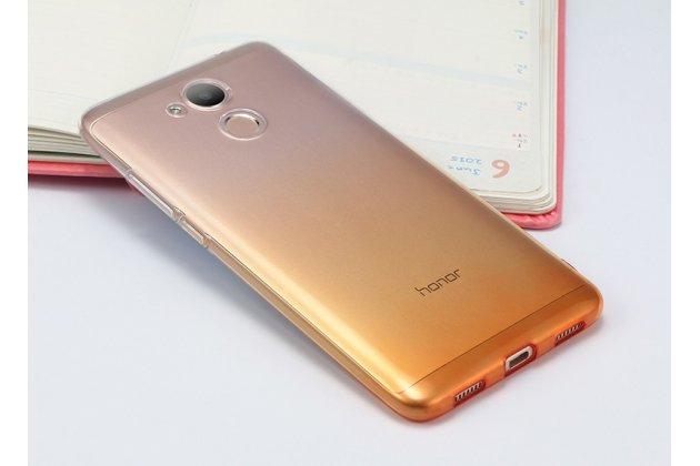 Фирменная ультра-тонкая полимерная задняя панель-чехол-накладка из силикона для Huawei Honor 6A прозрачная с эффектом песка