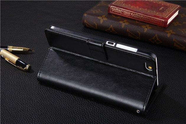 Фирменный премиальный элитный чехол-книжка из качественной импортной кожи с мульти-подставкой и визитницей для Huawei Honor 6A черный