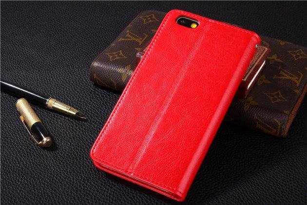 Фирменный премиальный элитный чехол-книжка из качественной импортной кожи с мульти-подставкой и визитницей для Huawei Honor 6A розовый