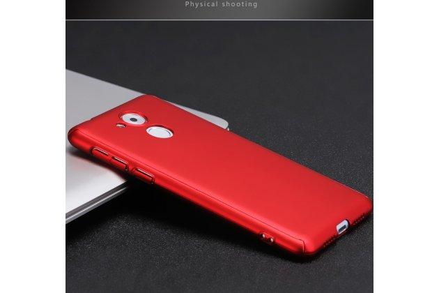Задняя панель-крышка из прочного пластика с матовым противоскользящим покрытием для Huawei Honor 6A красная