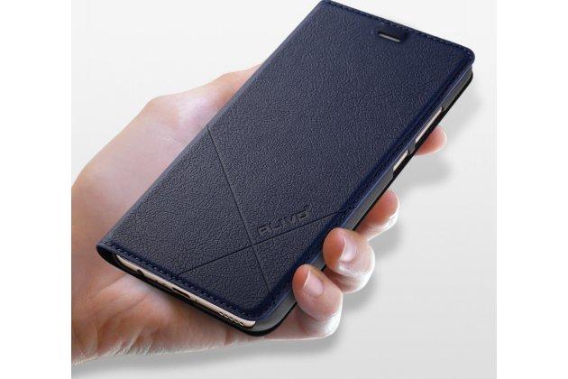 Фирменный чехол-книжка для Huawei Honor 6C Pro / Huawei Honor V9 Play водоотталкивающий с мульти-подставкой цвет золотой