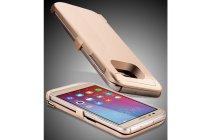 Чехол-бампер со встроенной усиленной мощной батарей-аккумулятором большой повышенной расширенной ёмкости 4200 mAh для Huawei Honor 6X золотой + гарантия