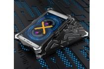 Противоударный металлический чехол-бампер из цельного куска металла с усиленной защитой углов и необычным экстремальным дизайном  для  Huawei Honor 6X (BLN-AL10) 5.5/ Honor 6X Premium черного цвета
