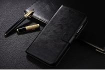 Фирменный чехол-книжка из качественной импортной кожи с подставкой застёжкой и визитницей для Huawei Honor 6X (BLN-AL10) 5.5 черный