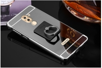 Фирменная металлическая задняя панель-крышка-накладка из тончайшего облегченного авиационного алюминия для Huawei Honor 6X (BLN-AL10) 5.5 черная