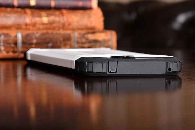 Противоударный усиленный ударопрочный фирменный чехол-бампер-пенал для Huawei Honor 6X (BLN-AL10) 5.5 белый