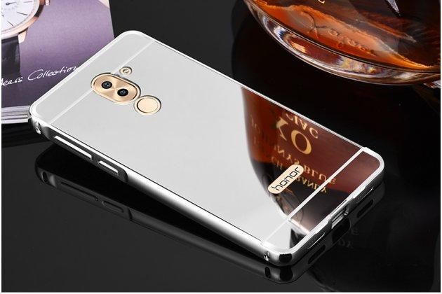 Фирменная металлическая задняя панель-крышка-накладка из тончайшего облегченного авиационного алюминия для Huawei Honor 6X (BLN-AL10) 5.5 серебристая
