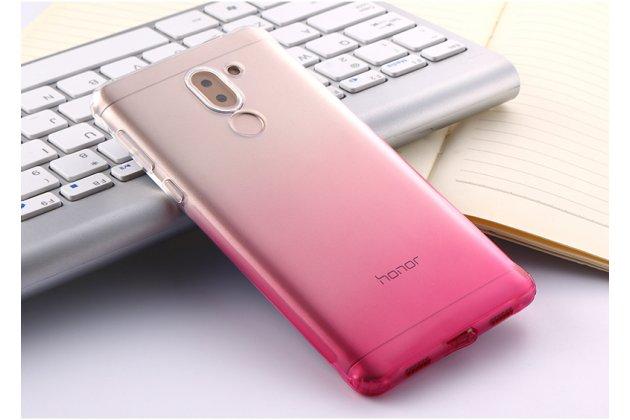 Фирменная ультра-тонкая полимерная задняя панель-чехол-накладка из силикона для Huawei Honor 6X (BLN-AL10) 5.5 прозрачная с эффектом грозы
