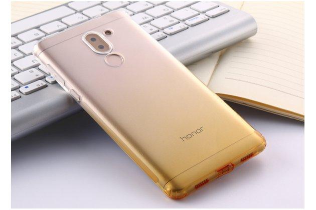 Фирменная ультра-тонкая полимерная задняя панель-чехол-накладка из силикона для Huawei Honor 6X (BLN-AL10) 5.5 прозрачная с эффектом песка